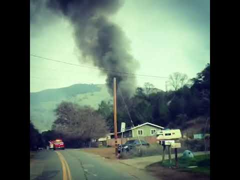 Smoke from Nice house fire fills the air in Lake County