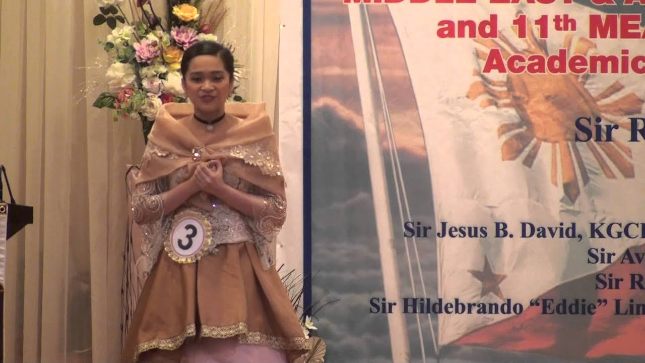 f88220faf4 1st Runner-Up Young Maria Clara 2013 - Ms. Gretl May B. Roquim Oration