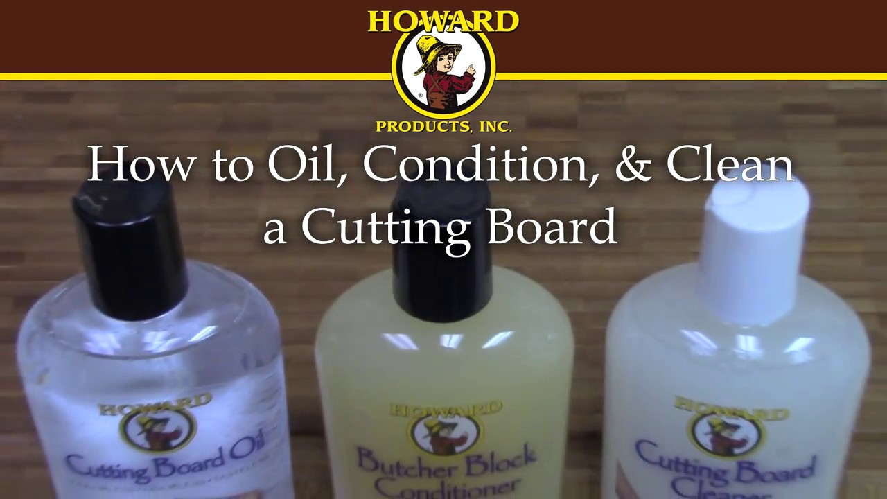 How To Oil Condition Clean A Cutting Board Youtube