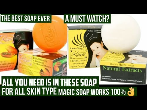 BEST WHITENING SOAP FOR ALL SKIN TYPE+ HOW TO USE, ACNES AND SUNBURN TREATMENT|MADAME RANEE SOAP 👌❤