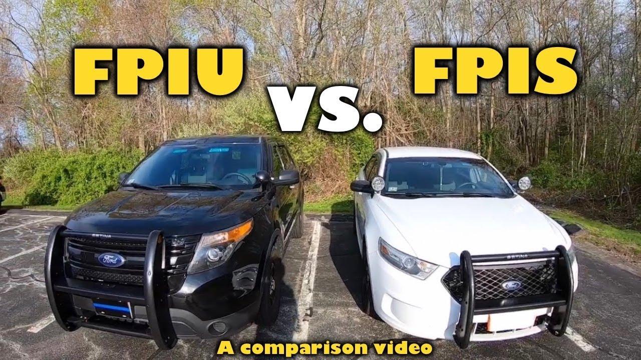 Ford Police Interceptor Utility vs Ford Police Interceptor Sedan (comparison)