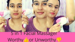 5 in 1 Facial Massager | Honest Review & Demo on Face | 👍OR 👎|SWATI BHAMBRA