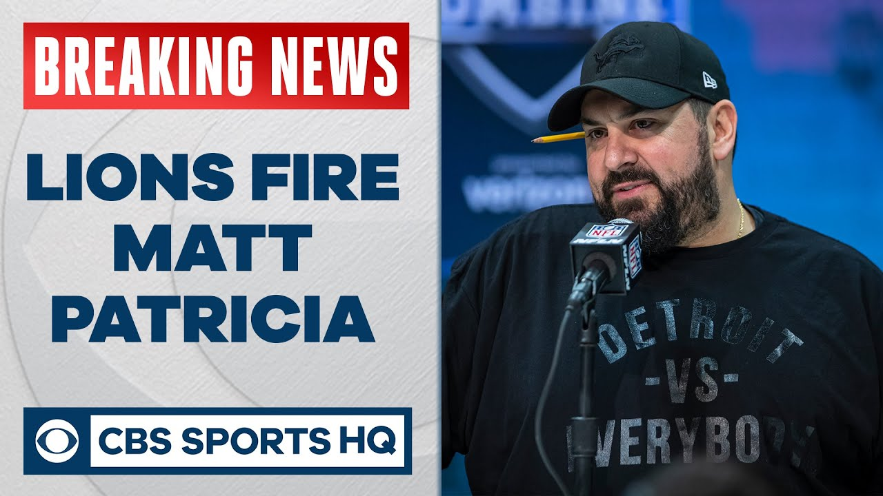 Matt Patricia and Bob Quinn Fired by Detroit Lions