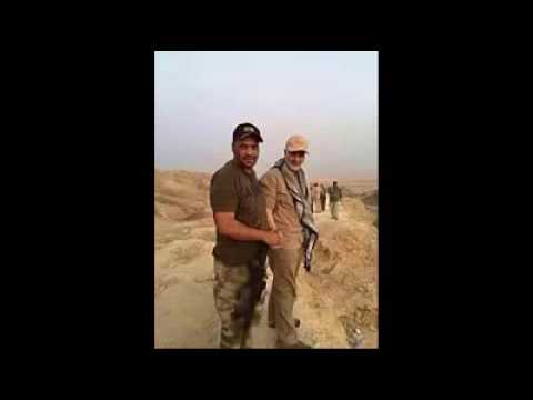 The Iranian Gen.Qasem Soleimani dances after the victory in Iraq's Tikrit