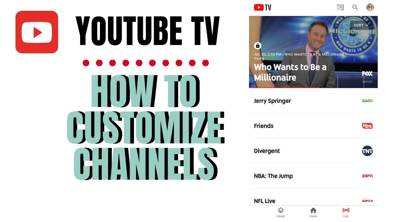 YouTube TV: How to Remove Channels in your Custom View