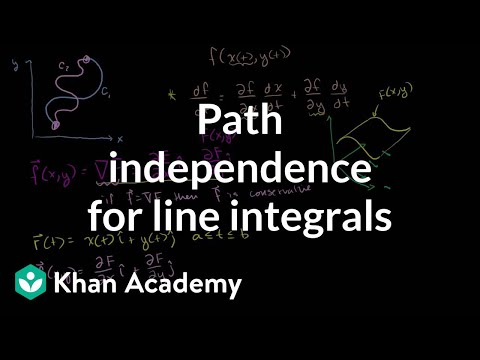 Path independence for line integrals | Multivariable Calculus | Khan Academy