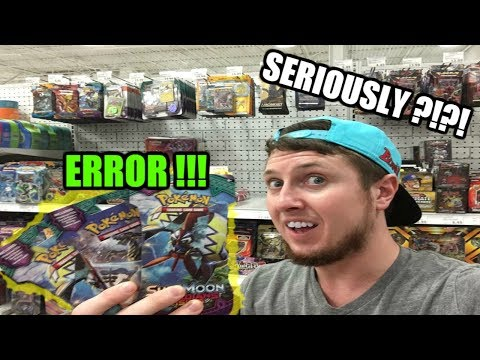 POKEMON ERROR PACKS! Opening Pokemon Guardians Rising Booster Packs
