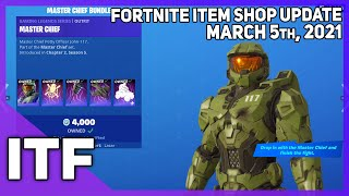 Fortnite Item Shop MASTER CHIEF + KRATOS! [March 5th, 2021] (Fortnite Battle Royale)