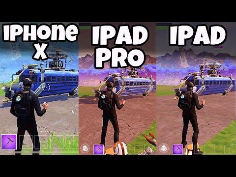 iPhone X vs iPad vs iPad PRO - FORTNITE Mobile - App Graphics Comparison |