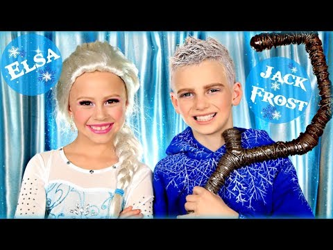 Elsa and Jack Frost Makeup and Costumes