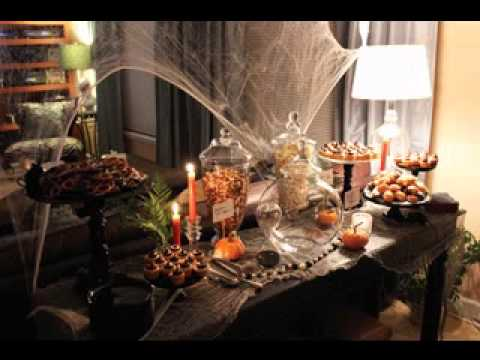 diy halloween buffet decorating ideas youtube. Black Bedroom Furniture Sets. Home Design Ideas