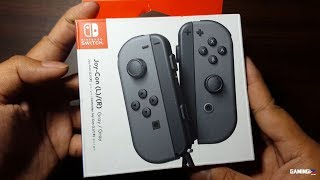 Joy-Con (L)/(R) Gray for Nintendo Switch Unboxing