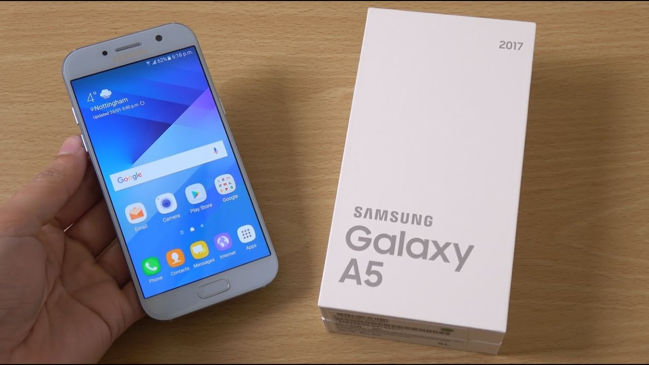 samsung galaxy a5 2017 unboxing first look 4k youtube. Black Bedroom Furniture Sets. Home Design Ideas