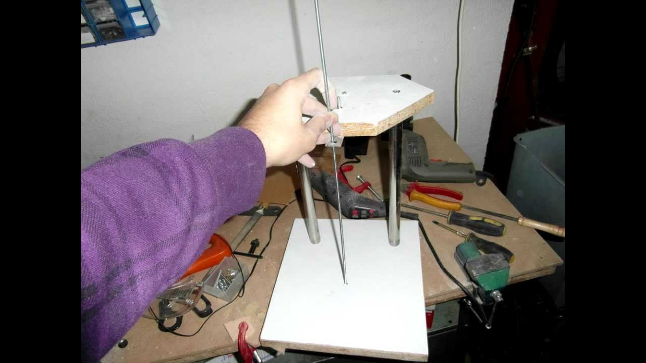 Maquina de cortar porexpan corcho blanco casera diy for Maquina para cortar metacrilato