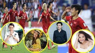 Cả showbiz Việt vỡ òa,hào hứng rủ nhau đi bão sau khi Việt Nam xuất sắc vào tứ kết Asian Cup 2019