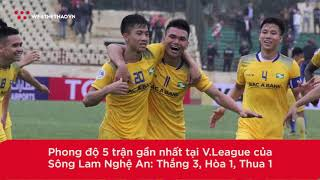 Đối đầu lịch sử SLNA vs Quảng Nam (Vòng 1 V.League 2019)