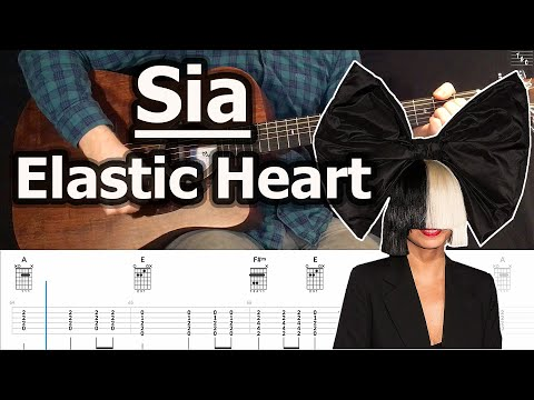 Sia - Elastic Heart (Acoustic Guitar Cover Tutorial With Tab)