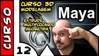 Curso de Maya 3D #13 Modelagem - Extrude . Multiplicando Geometria . 4TechShow