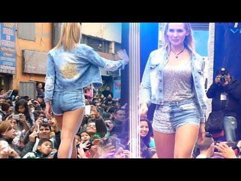 Expo Gamarra 2014 - Laly Goyzueta en short jeans