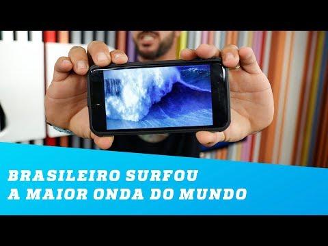Como um brasileiro surfou a maior onda do mundo