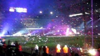 Barça campeon de liga 09/10 - Lluvia de confetti azulgrana