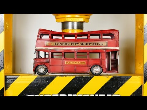 EXPERIMENT HYDRAULIC PRESS 100 TON vs IRON TOYS CARS