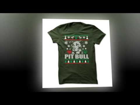 PIT BULL Ugly Christmas Sweater Style Printed Tee!