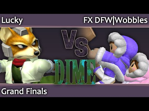 DIME13 Melee - Lucky (Fox, C Falcon) vs FX DFW Wobbles (ICs) - Grand Finals