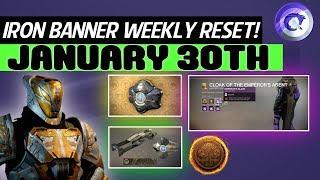 Destiny 2 Weekly Reset! - Iron Banner Returns!, Nightfall, Vendors, Challenges & Cayde 6 Maps!