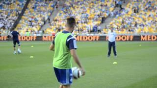 Мигель Велозу, финты на тренировке Динамо Киев