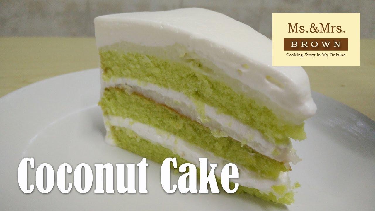 เค้กมะพร้าวอ่อน Coconut Cake
