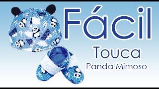 Como fazer Touca panda mimoso/modelo fácil e com molde grátis