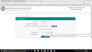 How to Create / Set the New password for UAN account online