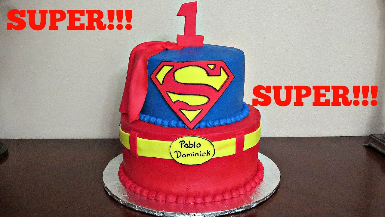 How To Make A Superman Cake Without Fondant