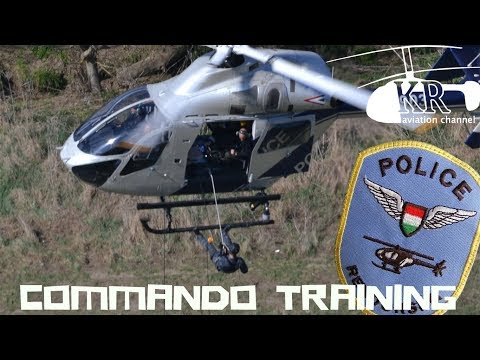 Commando training with helicopter - Hungarian Air Police MD-902 at Budakeszi katlan