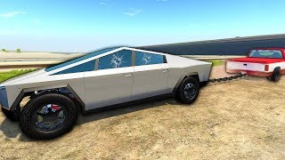 The Tesla Cybertruck vs Ford F150 - BeamNG Drive