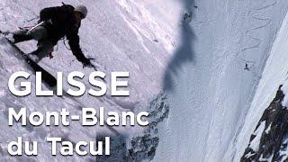 Couloir Gervasutti Mont-Blanc du Tacul alpinisme ski monoski snowboard pente raide Chamonix - 6818