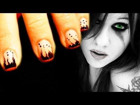 Emo/Gothic Nail Art