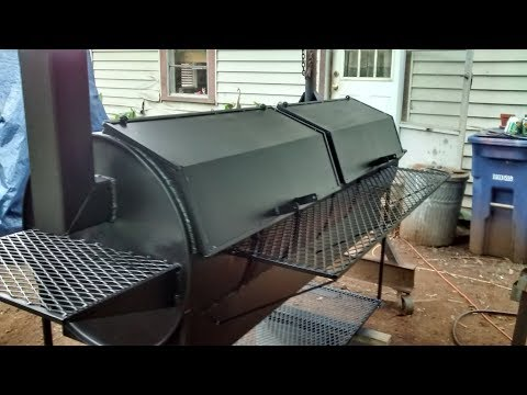 Double barrel bbq grill build