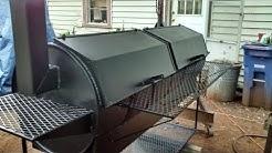Double barrel bbq grill build