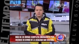 Incendio en SanCristobal   CityTv   Arriba Bogotá  Febrero 2