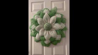 green white flower| Easy DIY Wreath