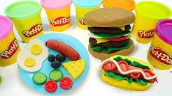 Spielspaß mit Play Doh. Wir spielen mit Knete und lernen die Farben.