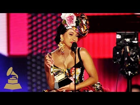 Cardi B Wins Best Rap Album  | Acceptance Speech | 61st GRAMMYs