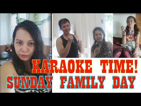 DAVAO CITY SUNDAY...FAMILY DAY! | KARAOKE TIME | VLOG #4