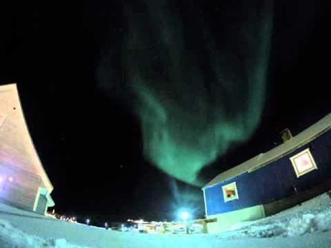 Aurora over Ilulissat, Greenland (GoPro Nightlapse)
