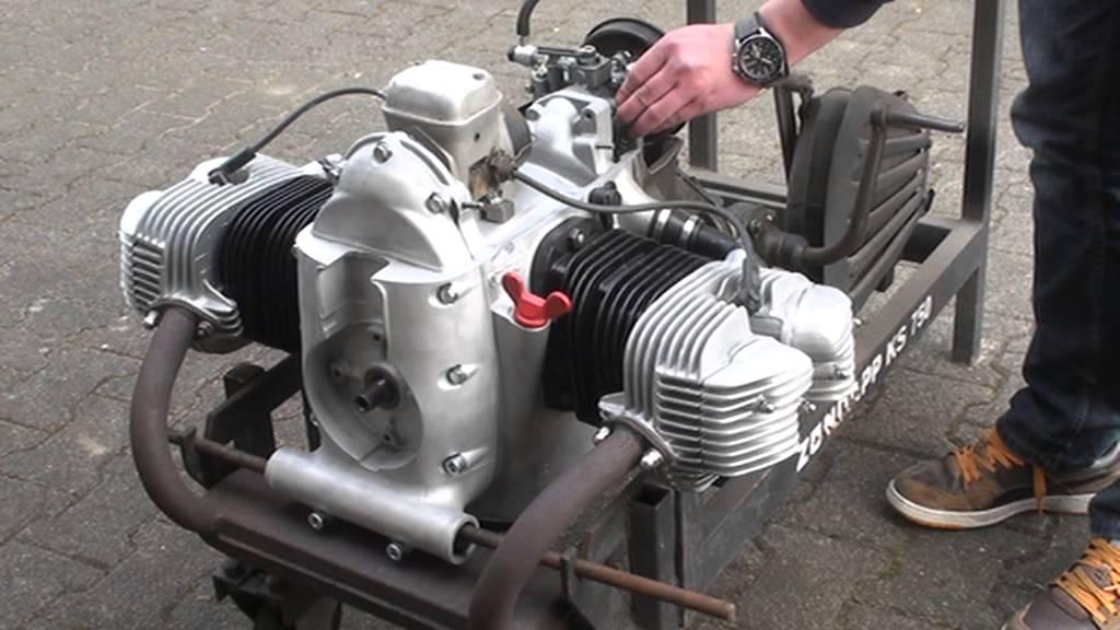 Verrassend 19. Zündapp KS Motor Beschreibung+ Probelauf- test run Engine NZ-23