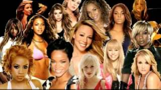 Fergie ,Rihanna, Mariah Carey,Miley Cyrus , Beyoncé Knowles, Mary J. Blige, Ashanti, Keyshia Cole, Ciara,Leona Lewis,Carrie Underwood , Natasha Bedingfield, Sheryl Crow, Melissa Etheridge e LeAnn Rimes  - Just Strand Up YouTube Videos