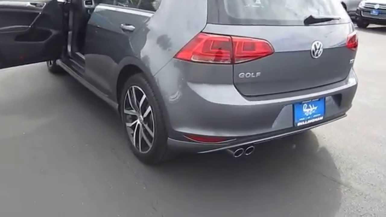 2015 Volkswagen Golf Platinum Gray Metallic Stock