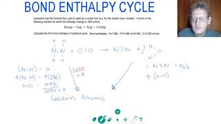 HOW TO CALCULATE BOND ENTHALPY USING an ENTHALPY CYCLE | A Level Chemistry Tutor